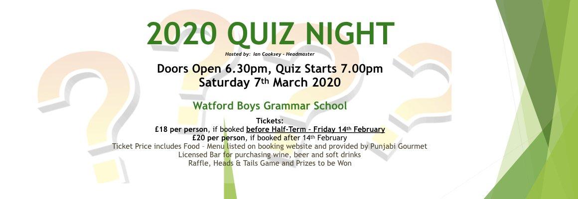Quiz Night March 2020